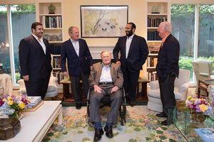 دیدار «بن سلمان» با «بوش» پدر و پسر