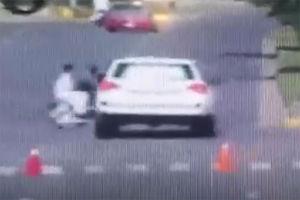 فیلم/ مرگ موتورسوار توسط وابسته نظامی آمریکا!