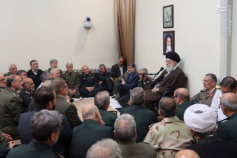 دیدار فرماندهان ارشد نیروهای مسلح با رهبر انقلاب