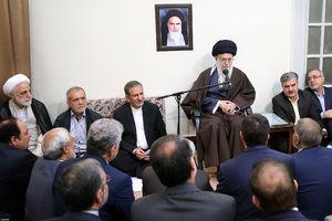 عکس/ دیدار جمعی از مسئولان نظام با رهبر انقلاب