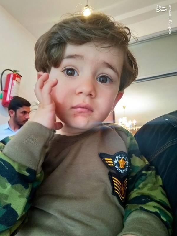 «امیرعلی» فرزند یک و نیم ساله شهید اکبر زوار جنتی
