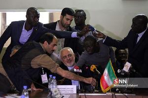 عکس/ دیدار ظریف با وزیر خارجه سنگال