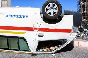 فیلم/ لحظه تصادف آمبولانس با پژو ٢٠۶ در سبزوار