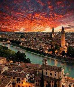 عکس/ نمایی زیبا از شهر ورونا ایتالیا