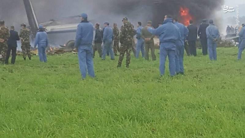 اولین تصاویر از سقوط هواپیمای الجزایر