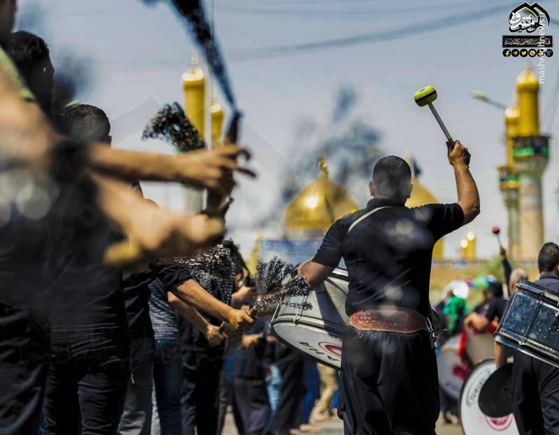 حرکت دستههای عزاداری در شهر کاظمین