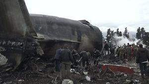 تصاویری از لاشه هواپیمای الجزایری