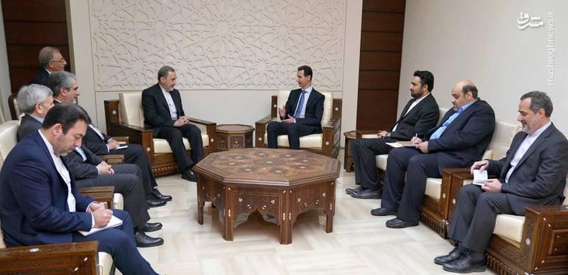 ولایتی در دیدار با بشار اسد در دمشق:نه سوریه امروز ضعیف تر از ۷ سال پیش است و نه آمریکا قوی تر از ۷ سال پیش