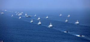 عکس/ بزرگترین رزمایش دریایی چین