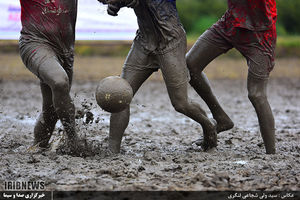 عکس/ فوتبالی متفاوت در مازندران