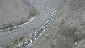 عکس/ ترافیک شدید در جاده هراز