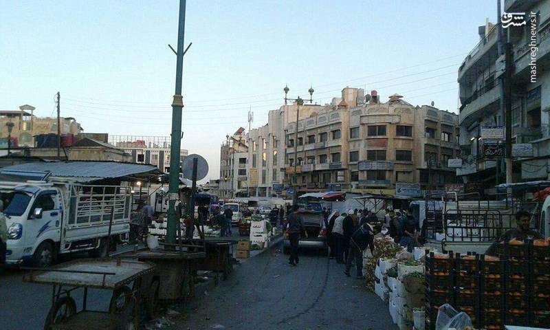 خیابانهای دمشق در ساعات اولیه صبح امروز