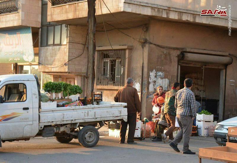 وضعیت عادی حاکم بر محلات مختلف شهر دمشق