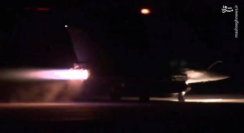 لحظه پرواز جنگنده های ائتلاف آمریکایی