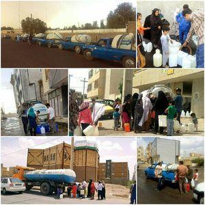 عکس/  آبرسانی سیار به شهروندان زاهدانی