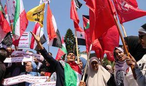 عکس/ اهتزاز پرچم ایران در نوار غزه