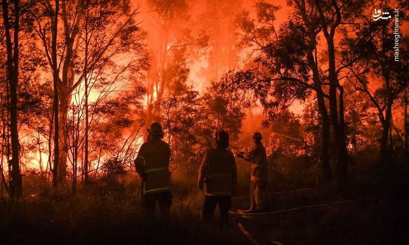 شبکه سی بی اس گزارش می دهد که بیش از ۷۰ دستگاه آتش نشانی در طول جاده هایی که نواحی طبیعی را از مسکونی جدا می کند مستقر شده اند و همزمان هلی کوپترها درحال ریختن آب از بالا هستند.