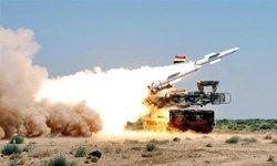 سوریها در حمله آمریکا چند موشک پدافندی شلیک کردند؟,