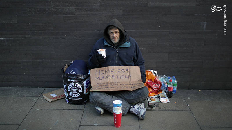 افزایش بی خانمانها در انگلیس