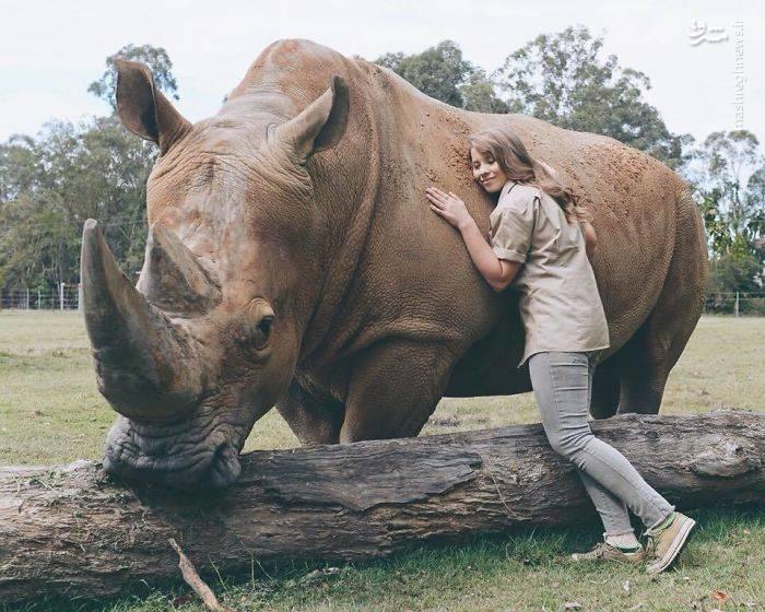 عکس/ صمیمیت یک دختر با اهالی باغ وحش!|2802966