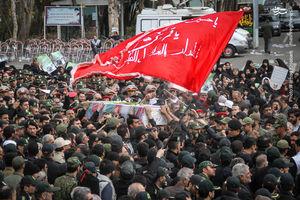 عکس/ تشییع پیکر شهدای ناجا خیابان پاسداران