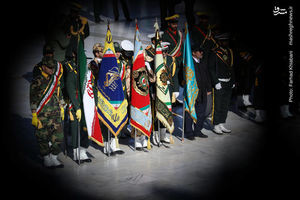 عکس/ صبحگاه مشترک نیروهای مسلح در مسجد مقدس جمکران