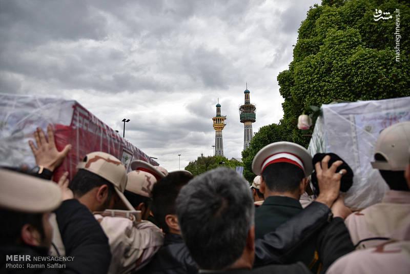عکس/ تشییعشهدای هنگ مرزبانی میرجاوه در مشهد