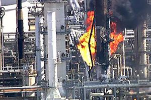 آتش سوزی تگزاس