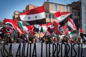 عکس/ حمایت مردم ایتالیا از دولت سوریه