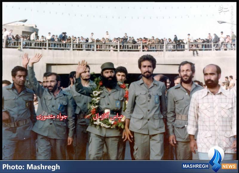عباس آقا زمانی(نخستین فرمانده عملیات سپاه) و جواد منصوری(نخستین فرمانده کل سپاه)