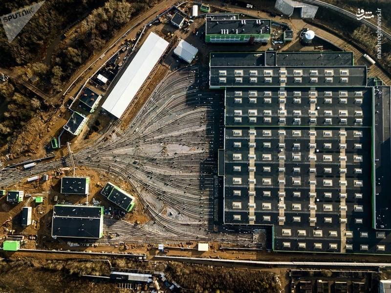 تصویر هوایی از فروشگاه پیشران (لوکوموتیو) در مسکو