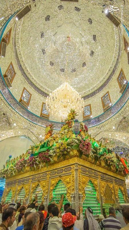 تصویری زیبا از ضریح حضرت ابوالفضل(ع)