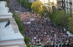 عکس/ تظاهرات ضد دولتی در مجارستان