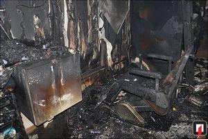 عکس/ آرایشگاه زنانه در آتش سوخت