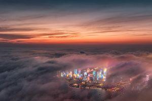 عکس/ مِه غلیظ در ساحل چین