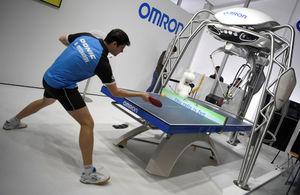 تمرین تنیس روی میز با ربات