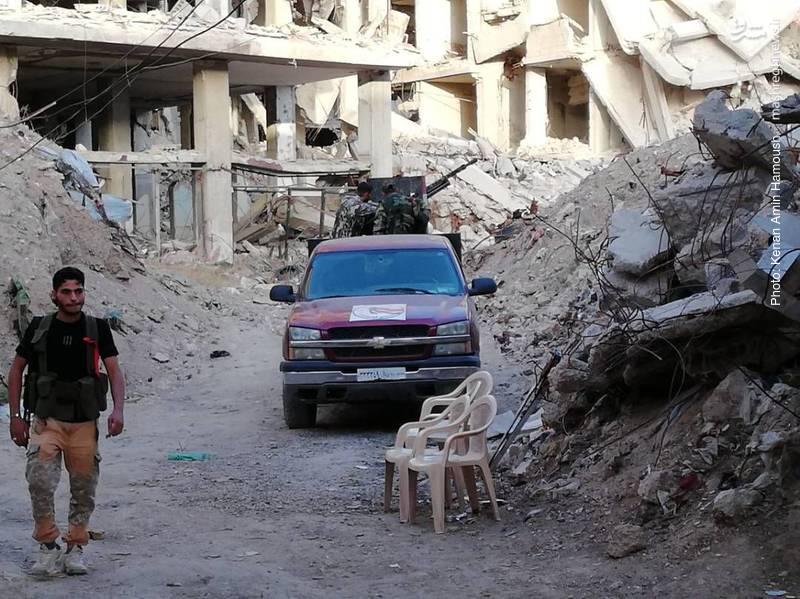 جنگ و شادی در جنوب دمشق