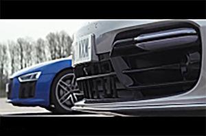 فیلم/ رقابت درگ پورشه پانامرا و آئودی R8
