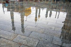 روز بارانی در حرم حضرت معصومه(س)
