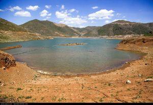 عکس/ کاهش شدید ذخیره آب سد «بنیر»