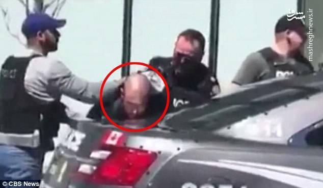 راننده از محل حادثه فرار کرد، اما پلیس او را کمی دورتر بازداشت کرد.