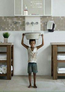"""پوستری خلاقانه درباره """"مصرف درست آب"""""""