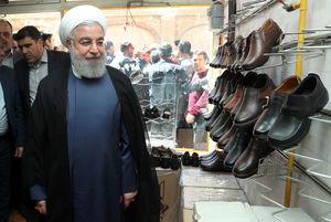 روحانی در بازار کیف و کفش تبریز