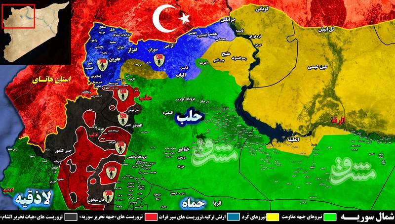 زندان های مخوف دولت ترکیه در شهر عفرین برای سرکوب مردم کُرد/ تلاش آنکارا برای تشکیل هلال تروریستی از جرابلس تا ادلب + تصاویر و نقشه میدانی