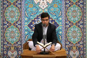 تلاوت برترین قاری مسابقات بینالمللی قرآن در محضر رهبرانقلاب
