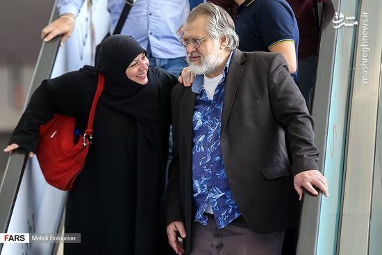 نادرطالب زاده و همسرش