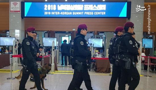فضای امنیتی محل برگزار مذاکرات دو کره