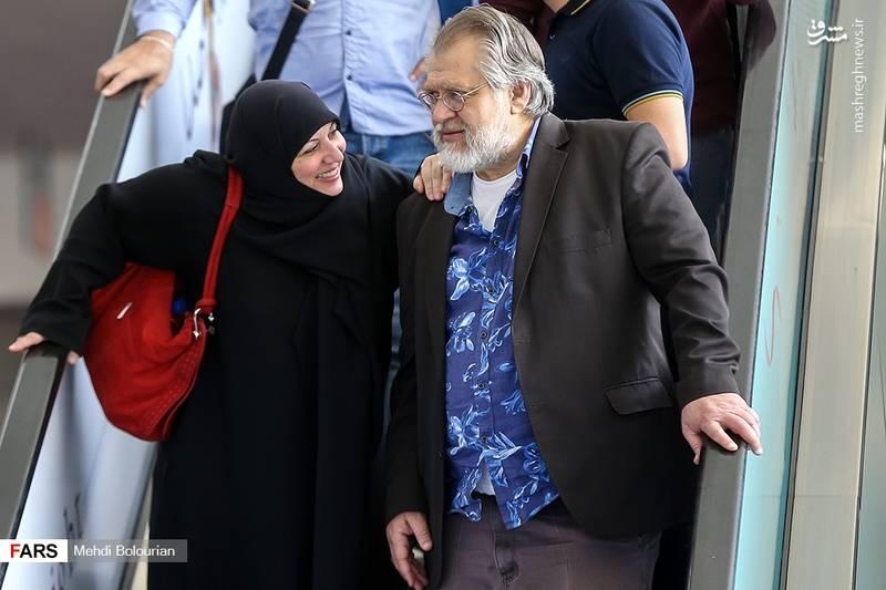نادرطالب زاده و همسرش در جشنواره جهانی فجر