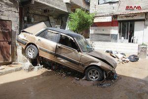 عکس/ خسارات سیل در دمشق