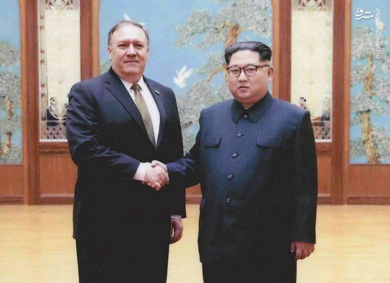 دیدار مایک پمپئو (رئیس وقت سازمان سیا) با کیم جونگ اون رهبر کره شمالی